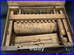10 pipe Walnut cased Serinette 1786