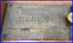 15 1/2 Regina Oak Double Comb Disc Music Box