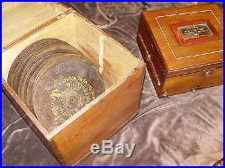 1800's Polyphon Disc Music Box once owned by actress Mary Pickford