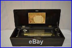 1840 Marque De Fabrique Swiss Antique 12 Airs Music Box WORKING
