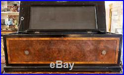 1880's Swiss music box, extremely rare dual drum and bell, magnificent sound