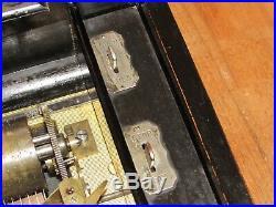 1890's Paillard 23 Antique Swiss Cylinder Music Box WORKS