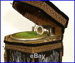 1920 Burns Pollock Lamp Phonograph All Original PhonoLamp - Including Shade