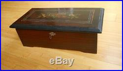 19TH C. SWISS CYLINDER MUSIC BOX with8 TUNES. IN WORKING ORDER. ESTATE FRESH