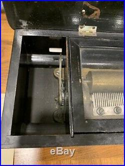 19th Century Victorian Mermod Freres Swiss Cylinder Wood Music Box