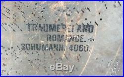 27 INCH Large Regina Music Box Disc Traumerei and Romance Schumann 4060 Metal
