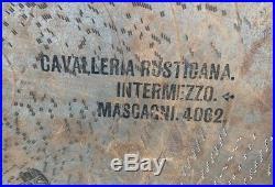 27 Regina Music Box Disc Cavalleria Rusticana Intermezzo Mascaoni 4062 Metal