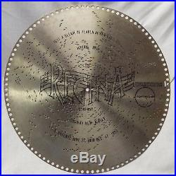 5 Antique 15 1/2 REGINA MUSIC BOX DISCS True Blue Onward Christian Soldiers