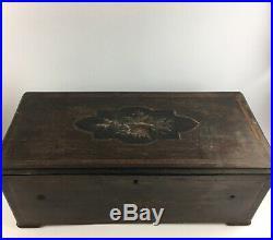 6 Bell Antique Music Box Lot 3963