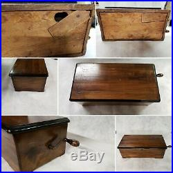 ANTIQUE MUSIC BOX M F 1818 Marque de Fabrique CYLINDER With crank SWISS Works