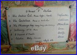 ANTIQUE MUSIC BOX VICTORIAN SWISS MECHANISM 6 AIRS USA PATENT SEPT. 25th 1894