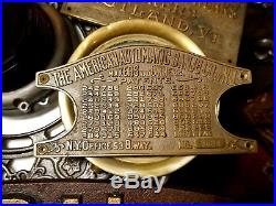 American Automatic Banjo Company of New Jersey Coin-Op Antique Brass Plaque