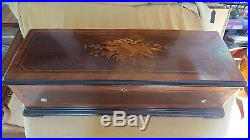 An exceptional Cylinder Music Box Rosewood inlay Case
