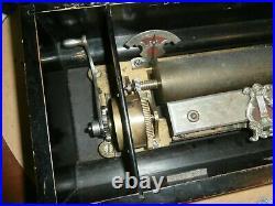 Antique 1800's Cylinder Music Box for Restoration