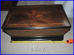 Antique 1800's Paillard Vaucher Fils Swiss 7805 5 Cylinder 30 Tune Music Box