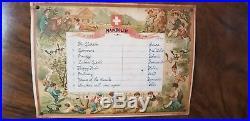 Antique 1800's Swiss Music Box (8 airs, 13 pcs)