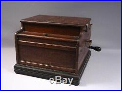 Antique 1888 Jubal Orchestrone Organette Music Crank Box withOrgan Rolls WORKS