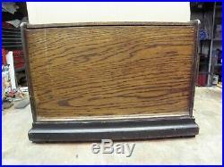 Antique 1890s Concert Roller Organ Music Box Cob Roller Organette Gold Lettering