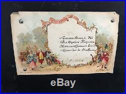 Antique 19 Century Swiss 4 Songs Modele Depose Tarara Boom Genevieve De Brabant