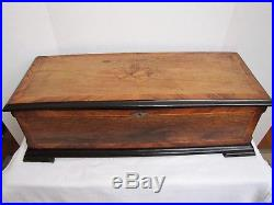Antique Airs Swiss made large cylinder 8 tune music box. 28.75