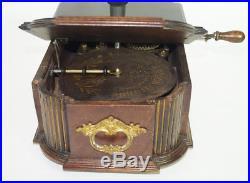 Antique Christmas Gloriosa Tree Stand Music Box Automaton