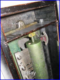 Antique Cylinder 6 Tune Music Box Paillard