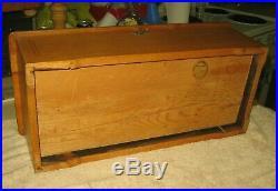 Antique Cylinder COLUMBIA Music BoxPlays 10 TunesPatented 1894Beautiful Case