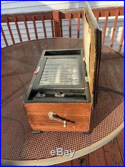 Antique Cylinder Music Box 10 Tune 3 Bell Box Butterfly Strikers