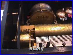 Antique Cylinder Music Box / Bells Drum Zither
