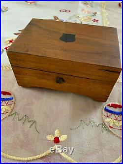 Antique Cylinder Wood Music Box, 3 AIRS, Made in Switzerland, H. T. WORKS