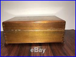 Antique Disk Music Box Includes 12 disks Looks and Sounds Great