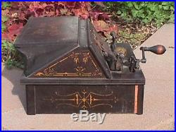 Antique GEM Roller Organ Pinned COB Reed PLAYER As Is Non Playing VG Condition