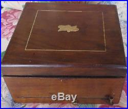 Antique German Polyhon Single Comb Music Disc and Bell Box, LEIPZIG, 1887