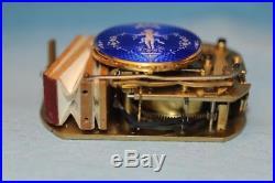 Antique Guilloche & Enamel Singing Bird Box Automaton Music Box (watch Video)