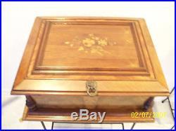 Antique Imperial Symphonion 20 Disk Music Box Double Comb + 16 Disks