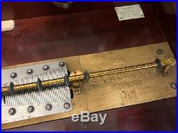 Antique Imperial Symphonion Music Box walnut case w 22 discs Good Cond