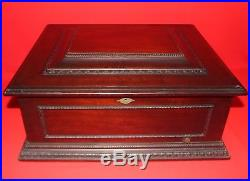 Antique Imperial Symphonion Music Box with nine 15 metal disks