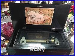 Antique Jacot & Son Music Box Victorian Swiss Mechanism 10 Airs Sept 22 1886