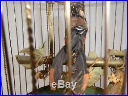 Antique Large Bontems SINGING BIRDS in CAGE Key Wind-Up 23H 1800s Works