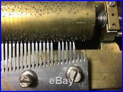 Antique Marque de Fabrique Swiss Cylinder Music Box D. P. R. 43685 No Crank AS IS