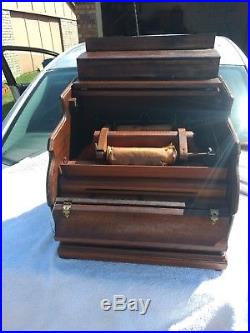 Antique Mechanical Organette Roller Organ Roll Playing Music Box C. 1880