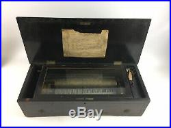 Antique Music Box 8 AIRS Etouffoirs En Acier Lot 3962
