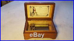 Antique Music Box Brevet No. 1849 Two Tune