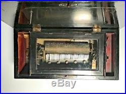 Antique Music Box. Cylinder