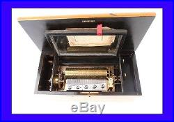 Antique Music Box in Good Condition and Working Order. Late 19th Century