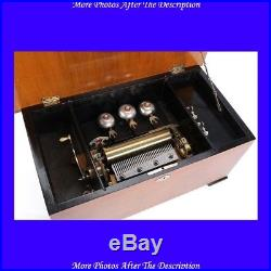 Antique Music Box with Automaton Swallows. Switzerland, 19th Century