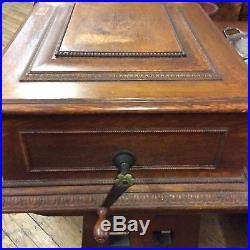 Antique Oak Imperial Symphonion Music Box