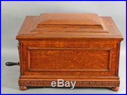 Antique Original REGINA DOUBLE COMB Disc Music Box & Discs Excellent Condition