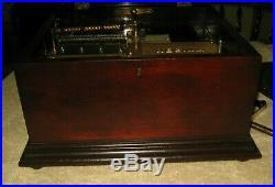 Antique Original REGINA Single Comb Disc Music Box Rare Inside Wind Style 20