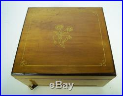 Antique Polyphon Disc Music Box With 8 Discs